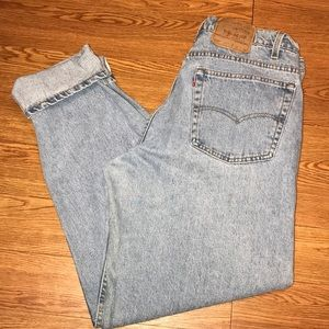 Vintage Levi's 550 relax tapered W 38 34L EUC